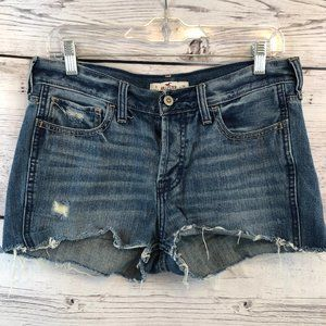 Hollister High Rise Cut Off Booty Shorts 26